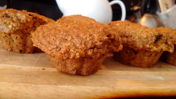 Apple Carrot Oatmeal Muffins - Beth the Baker