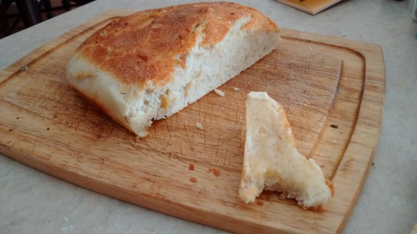 Crusty Artisan Bread buttered - Beth the Baker