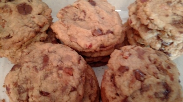 Browned Butter Bacon and chocolate chip cookies